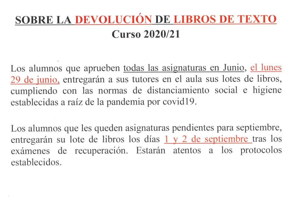 cartel Sobre devolución de libros. (1)